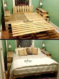 1000+ ideas about Pallet Bed Frames on Pinterest | Bed ...