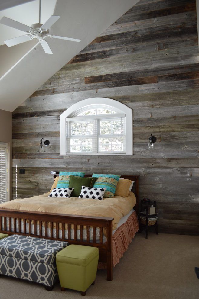 Reclaimed wood decorating ideas bedroom rustic with barn