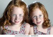 twin little girls with red hair