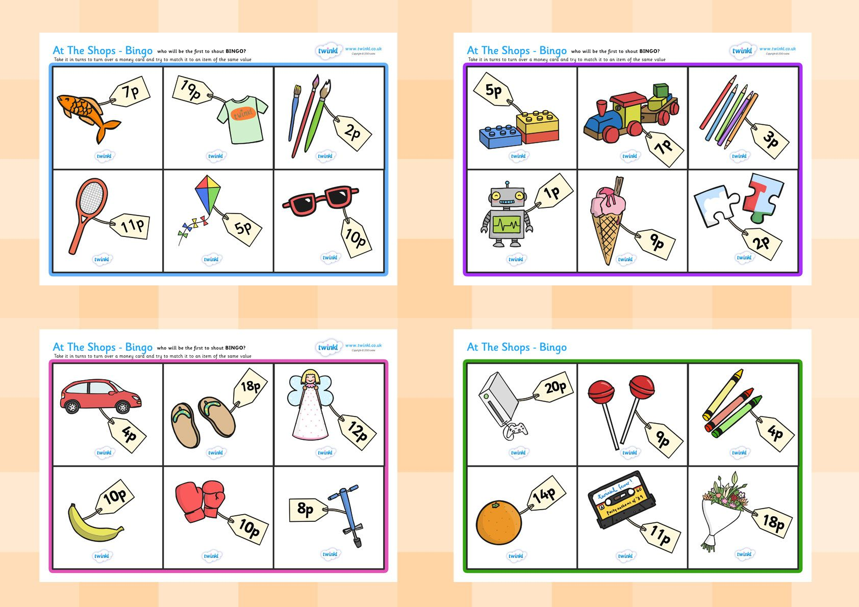 Twinkl Resources Gt Gt Toy Shop Bingo Gt Gt Printable Resources For Primary Eyfs Ks1 And Sen