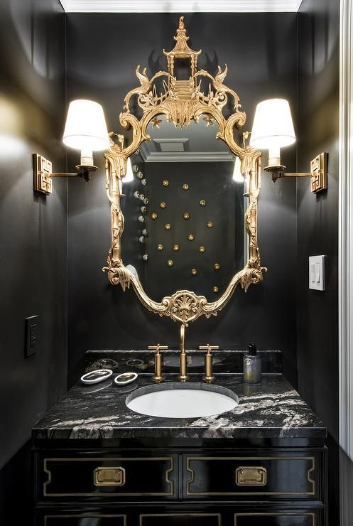 Black Painted Bathroom Vanities And After