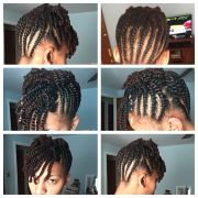 flat twist updo with two strand