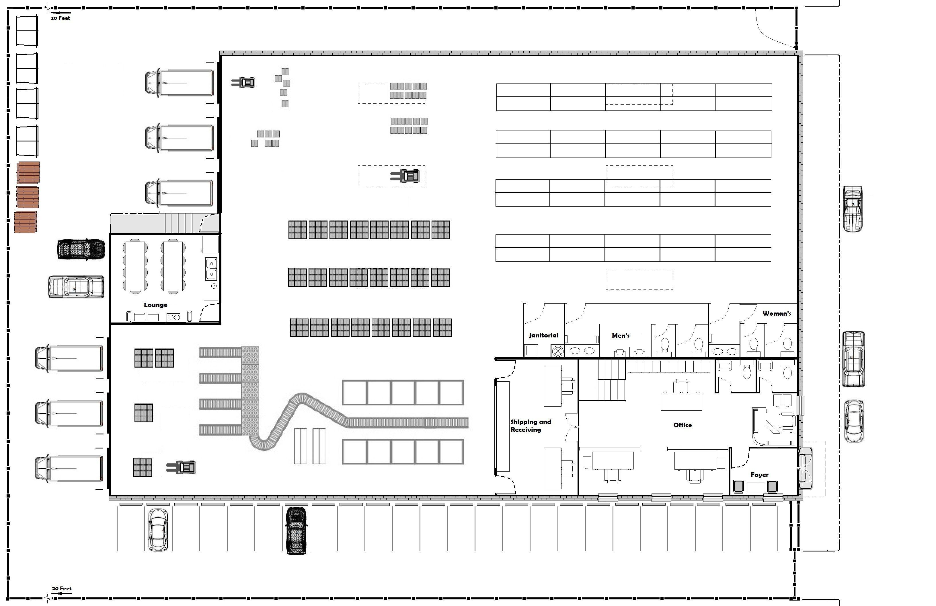 D Basic Floor Plans Modern Setting