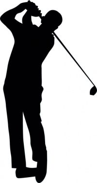 Golfing Silhouette - 16 : Custom Wall Decals, Wall Decal ...