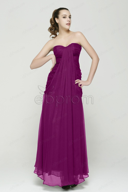 Magenta Bridesmaid Dresses Chiffon