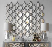 Single Silver Teardrop Panel Mirror, 6.25x58.75 | Room ...