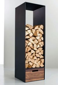 Wood storage, with room for kindling at the bottom | For ...