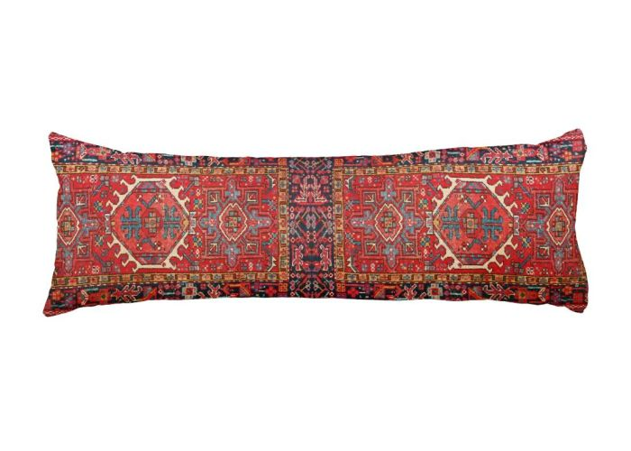 Faux carpet print of oriental turkish persian rug body pillow also photo