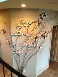 Three sided wall art - tree art, twig art for wall decor ...