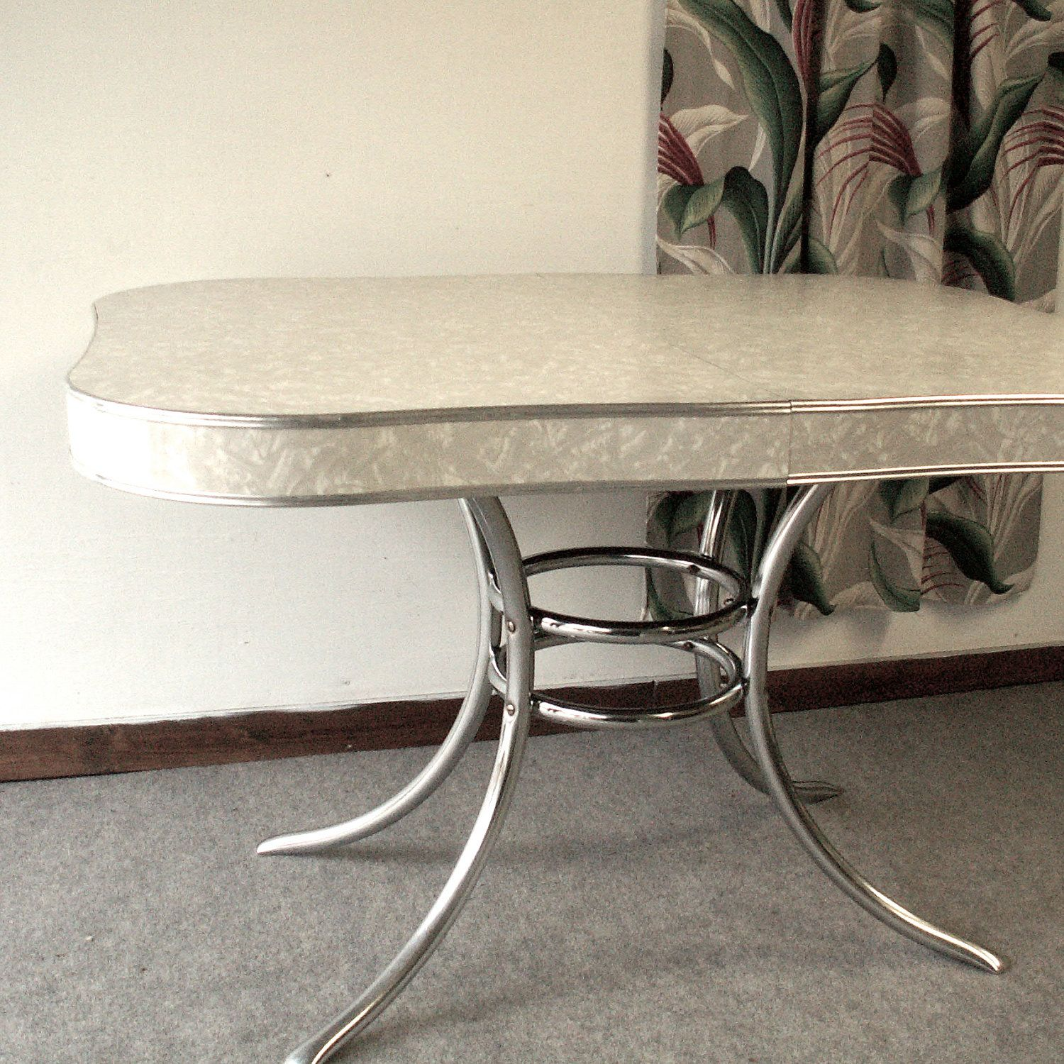 1950 s yellow formica table and chairs gaming chair x rocker vintage 39s chrome kitchen