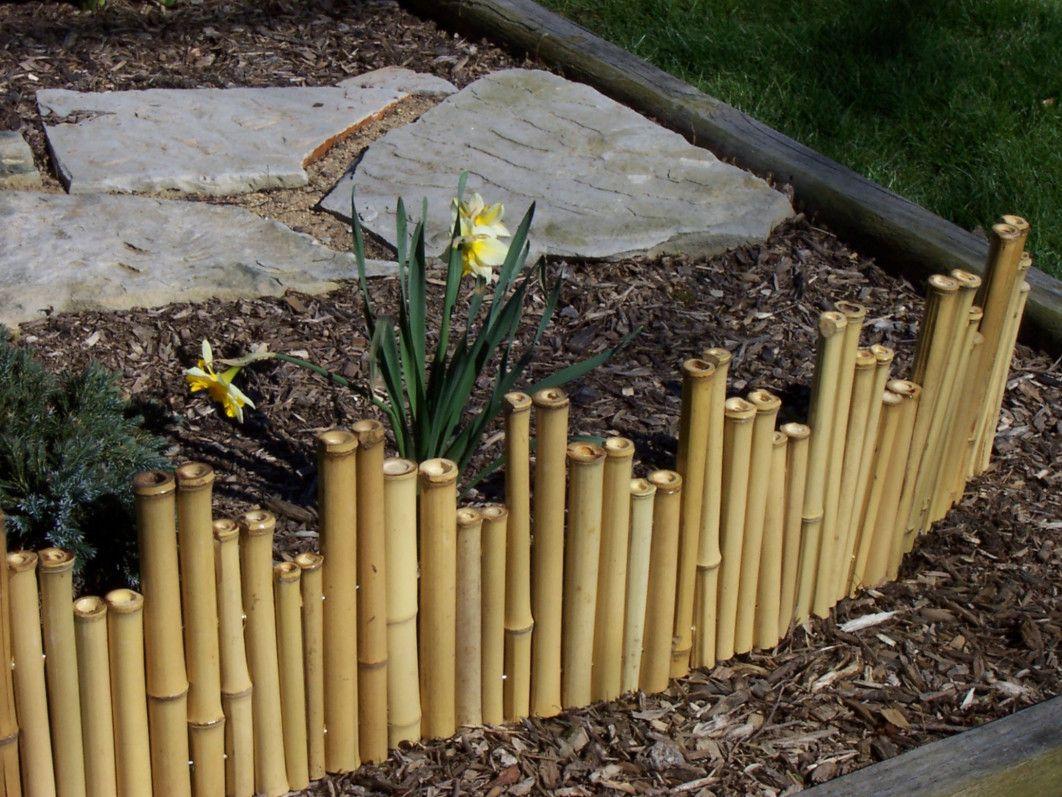 Bamboo Garden Border Fence Dry Sunny Garden Pinterest