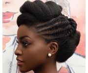 natural hair updo twists