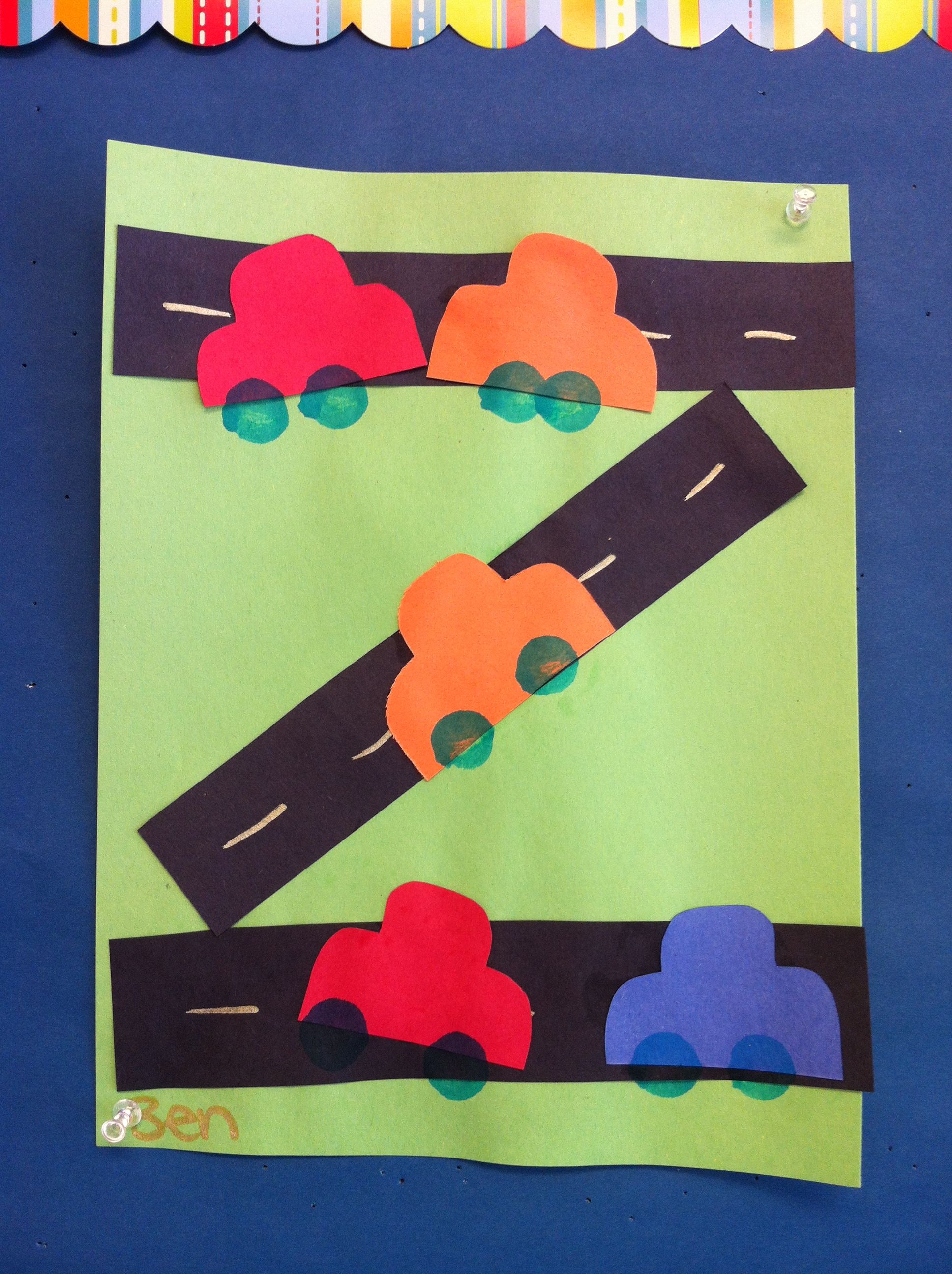Preschool Roadcar Craft Arts And Crafts Pinterest Cars Craft And Transportation