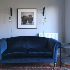Navy Blue Sofa Bed Uk Sienna Faux Leather Click Clack Velvet Persian Rug Sitting Room Lounge