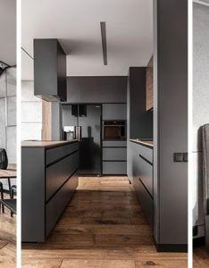 This apartment   palette is full of greys black and wood also woods rh pinterest
