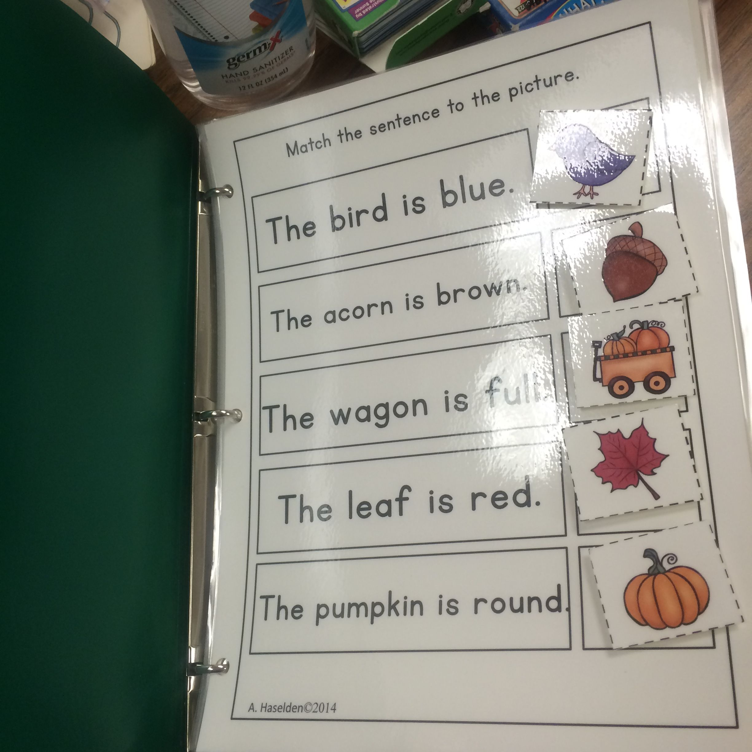 Matching Sentences To Pictures Early Comprehension Activity Interactive