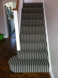 striped carpet on stairs and landing  Floor Matttroy