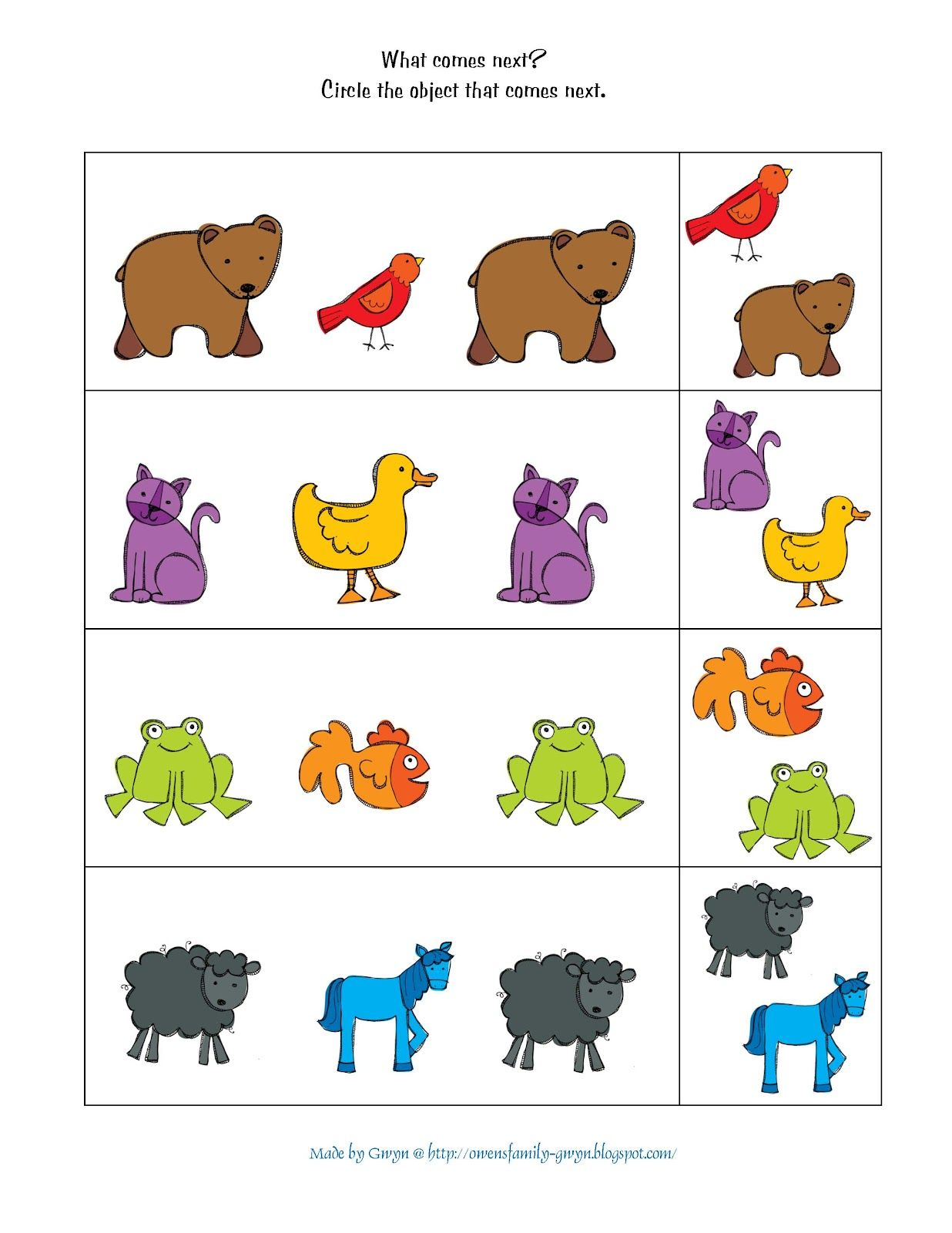 Preschool Printables Brown Bear School