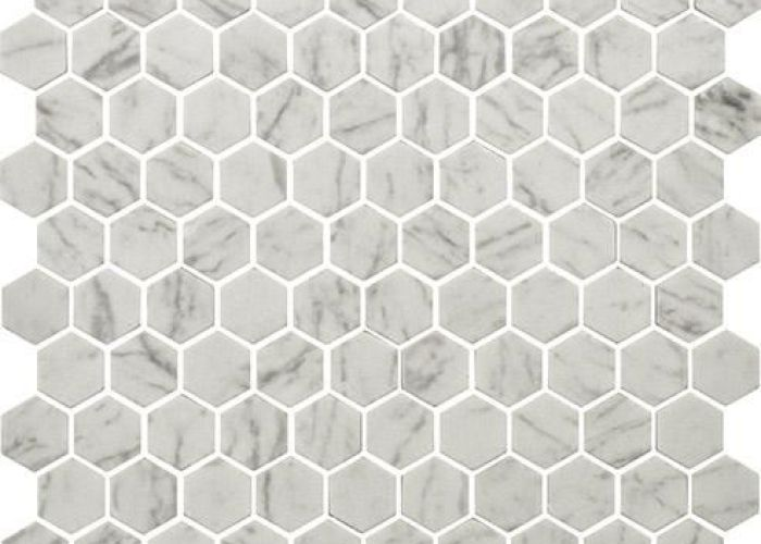Glass spirit white carrara marble mosaic tiles from the pizzazz hexagon range by bejewelled also pin nicolas   on carrelage pinterest mosaics and
