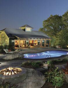 Georgianadesign   saratoga springs guest house ny balzer tuck architecture   courtyard poolpool houseslake also rh pinterest