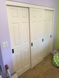 3 Panel 3 Track Hollow Core Sliding Closet Doors. The ...