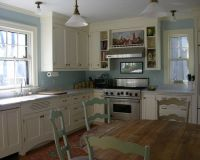 Robin's Egg Blue kitchen. Would be great, its an old ...