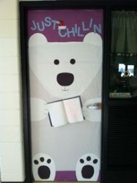 Just Chillin Polar Bear Door Decoration Idea *would do ...