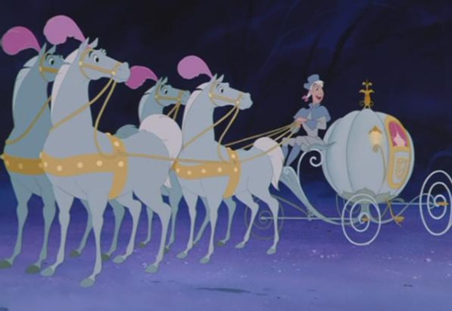 Cinderella And Her Carriage Cartoon