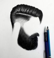 mens hair style pencil drawings