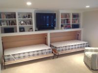 Splashy Hideabed vogue Boston Transitional Basement Image ...