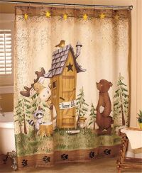 Nature calls outhouse bear moose rustic cabin lodge ...