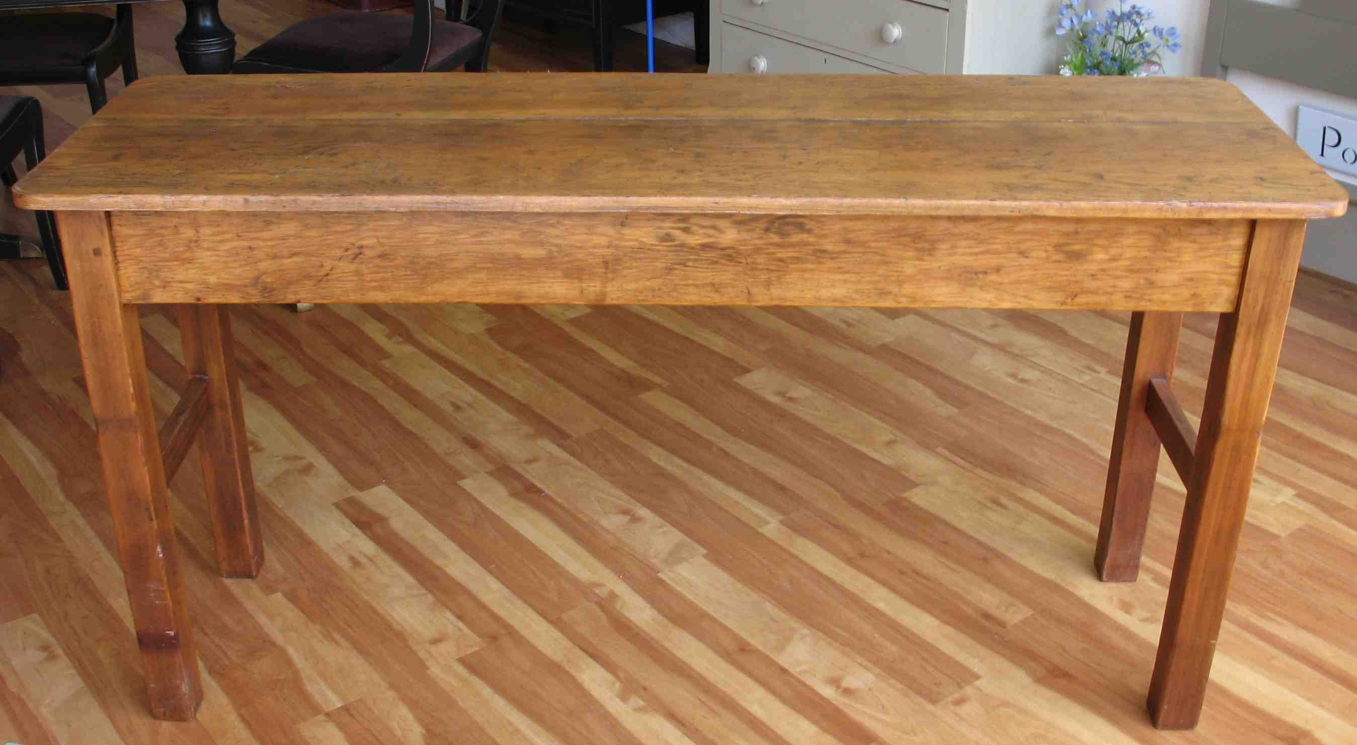 long narrow tall table