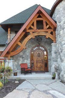 Timber Frame Entrance And Repin. Thx Noelito Flow