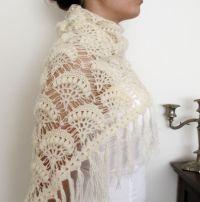 crocheted wedding shawls   NEW DESIGN Bridal Crochet Shawl ...