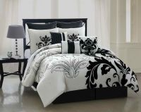 California King Size Bed Comforter Sets With Black And ...