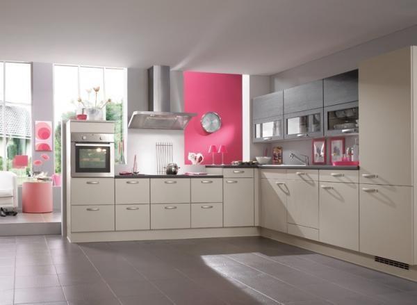 cuisine rose et gris.
