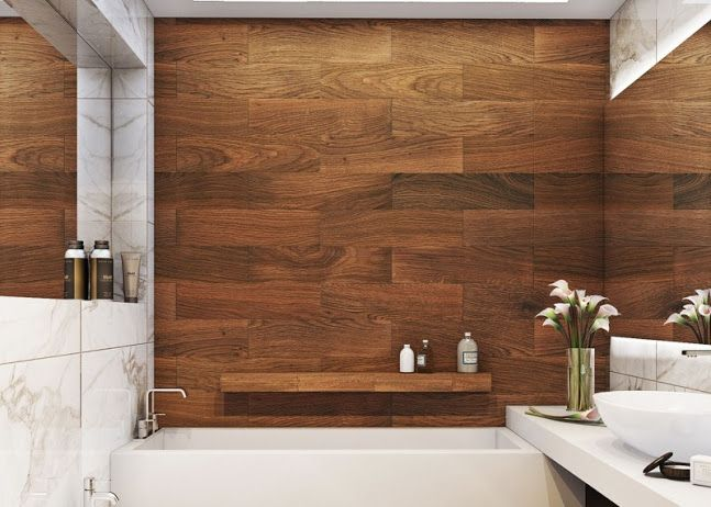 Wood Grain Tile  Bathroom Ideas  Pinterest  Wood grain