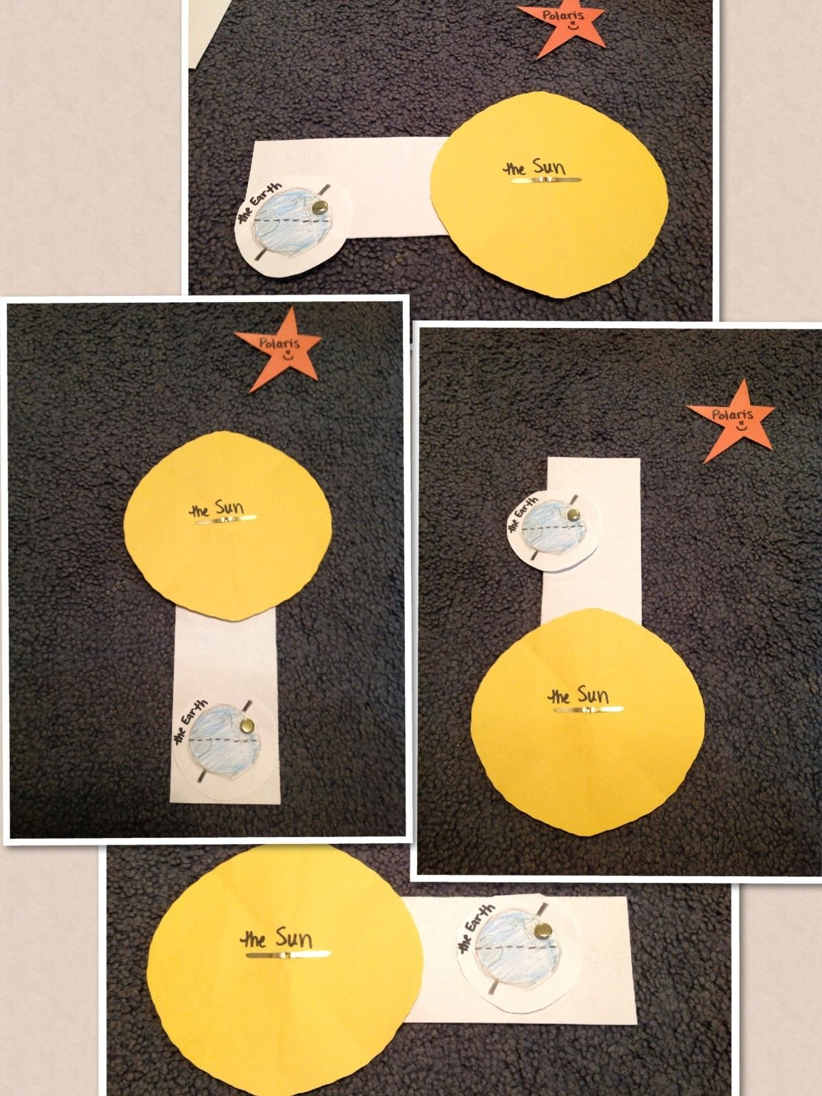 Create A Sun And A Earth To Rotate Around It To Show How