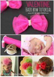 valentine hair bow tutorial