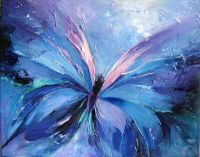Abstract Butterfly Paintings | Butterfly blue, Abstract ...