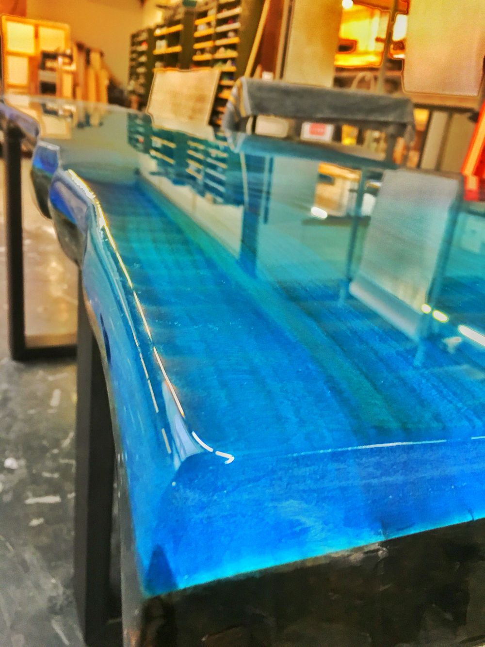 Cbd Glass Countertops Epoxy Resin Ocean Blue | Ccoating New Collection Line