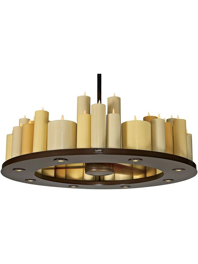 Candelier 48 Light With 30 Three Blade Ceiling Fan In Oil Rubbed Bronze