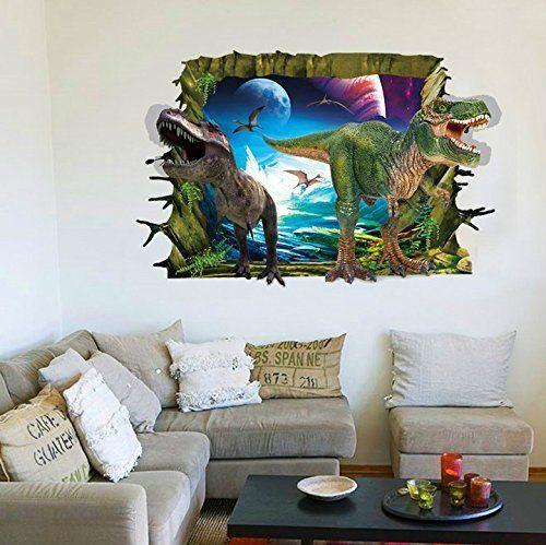 Rrrljl  jurassic park dinosaur wall art decor home decal sticker for kids children room also rh pinterest