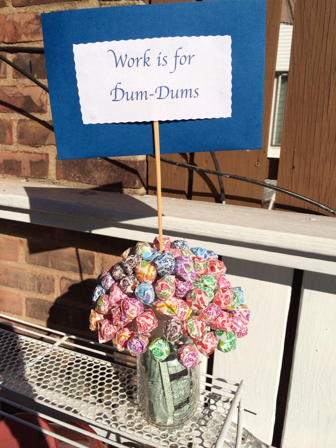 Diy crossworddumdums centerpiece for my aunts retirement