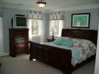 tiffany blue bedroom walls | Bedroom with black and white ...