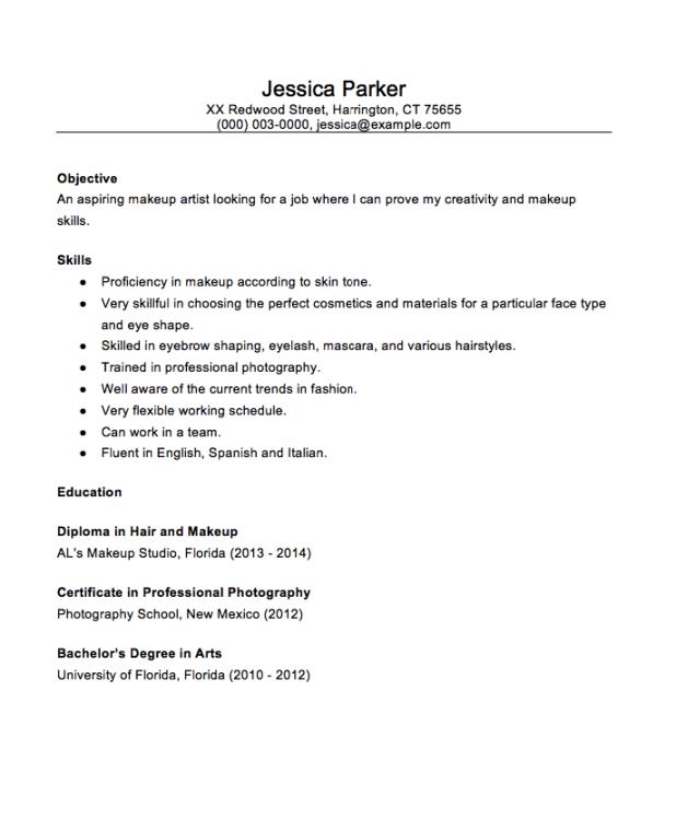 freelance makeup artist resume sample | Cartoonview.co