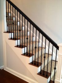 Jennifer Taylor Design- Custom Staircase -iron spindles ...