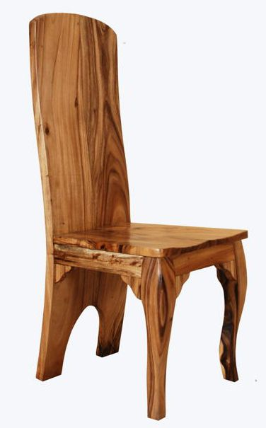 Solid Wood Chairs Natural Wood Chairs Elegant Rustic