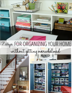 steps for organizing your home  without getting overwhelmed also rh pinterest