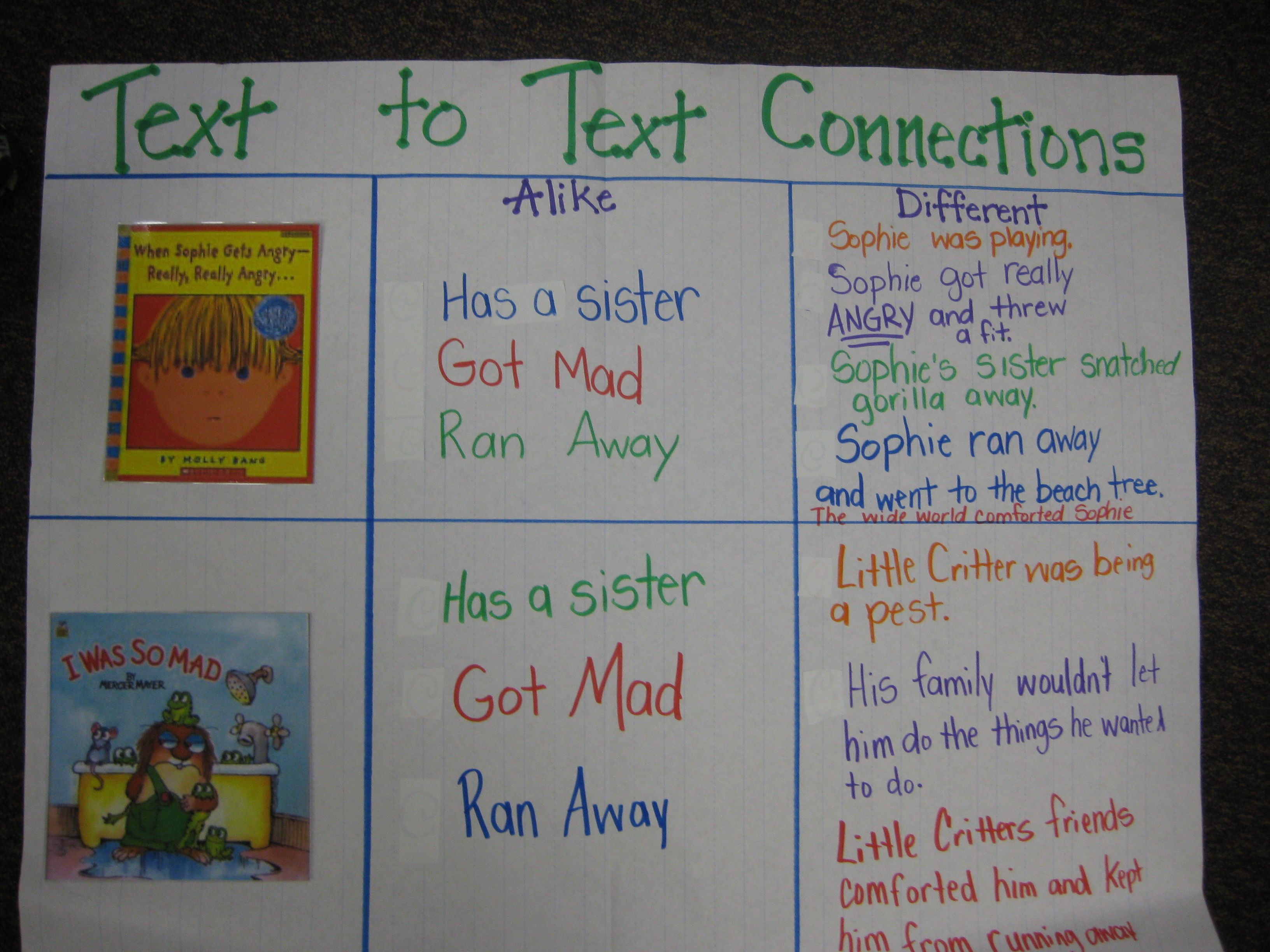 Great Way To Introduce Text To Text Connections